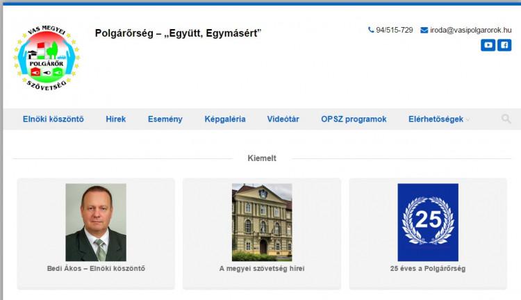 Elindult a Vas Megyei Polgárőr Szövetség honlapja