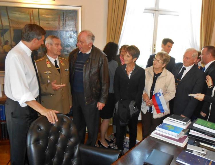 A szlovén köztársasági elnöknél jártunk...
