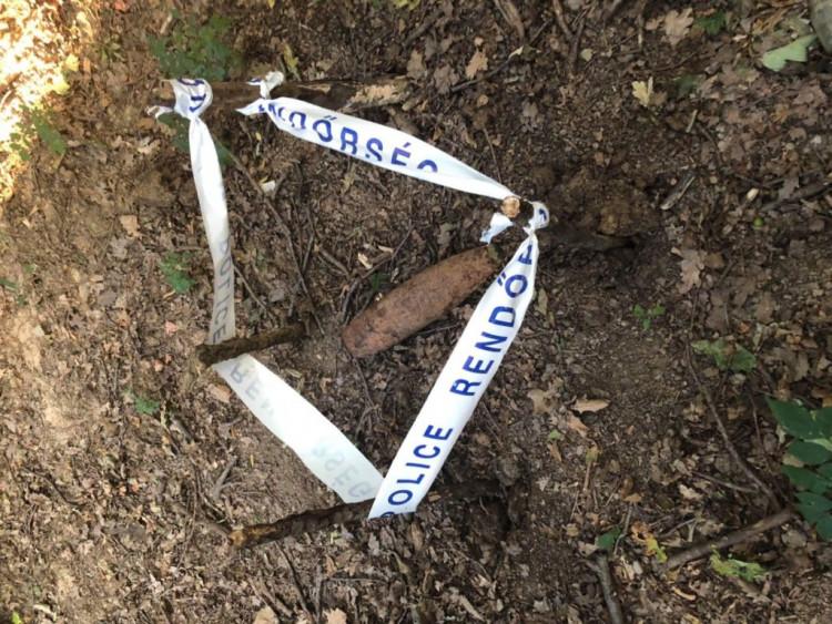 II. Világháborús lövedéket talált az ifjú polgárőr