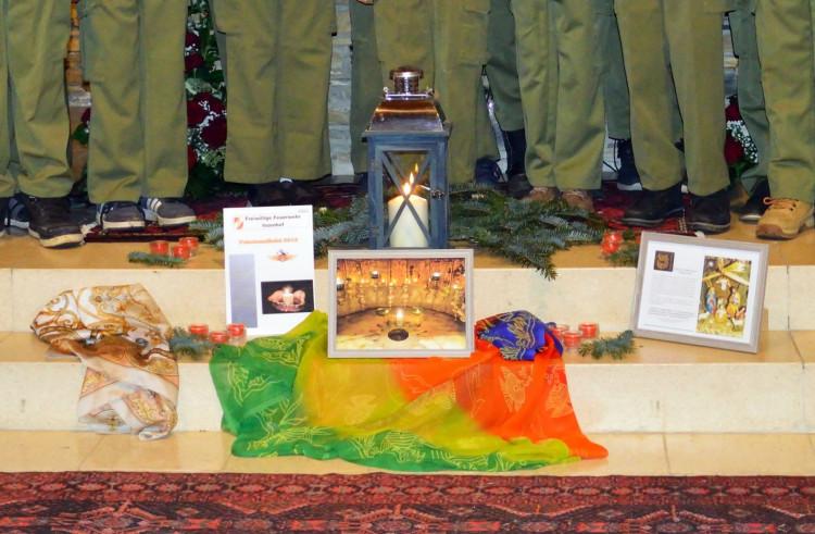 A béke lángja a rönöki Szent Imre templomban