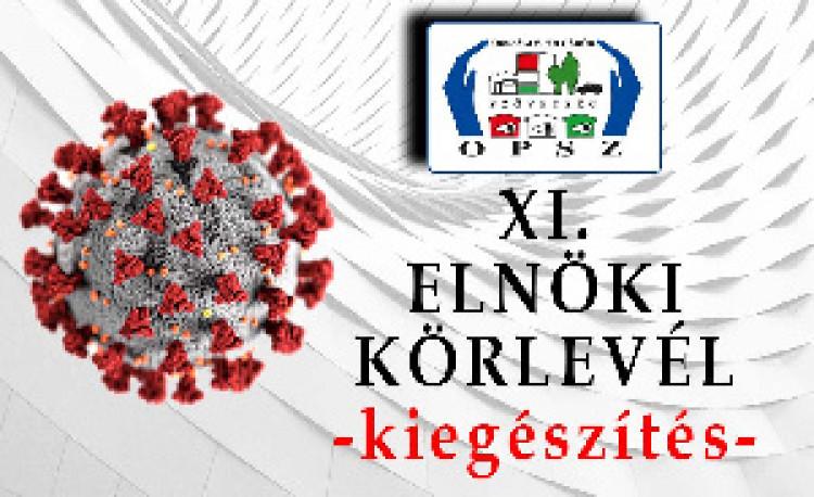 Az Országos Polgárőr Szövetség elnökének XI. sz. körlevele - kiegészítés