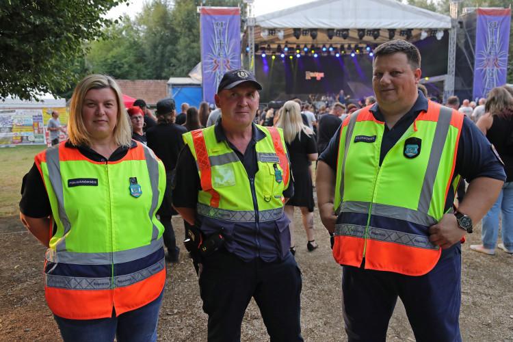 Polgárőrök a XXI. AlteRába Fesztiválon