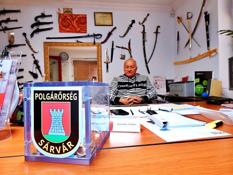Civil támogatás a sárvári polgárőröknek